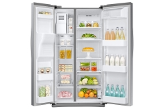 fridge Front-Open_Silver